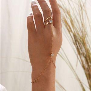 Connected Bracelet Ring